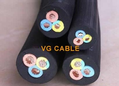 black rubber flexible cable 1.5mm 3-core